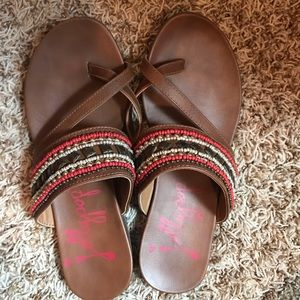 Jellypop Tribal sandals. Size 8.